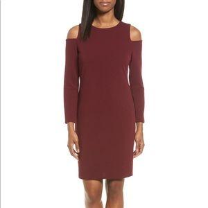 Halogen (Nordstrom) Knit Cold Shoulder Dress